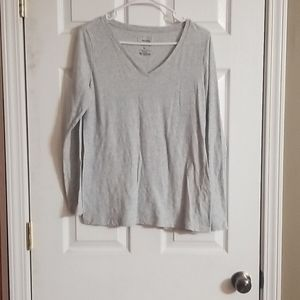 Sonoma size Medium heather gray long sleeve